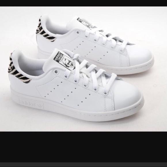 separation shoes e76ca 8f18a NWT Stan Smith Adidas Zebra print shoes low top NWT